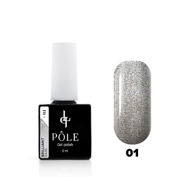 "Гель-лак POLE Brilliant rain №01 ""Silver "" (8 мл)"