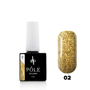 "Гель-лак POLE Brilliant rain №02 ""Gold"" (8 мл)"