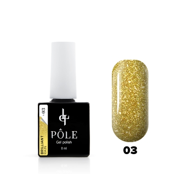 "Гель-лак POLE Brilliant rain №03 ""Yellow"" (8 мл)"