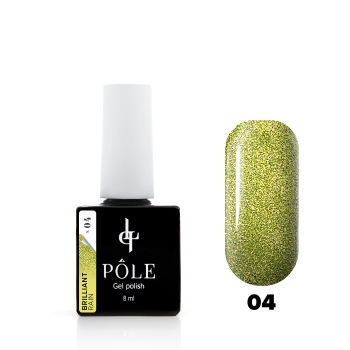 "Гель-лак POLE Brilliant rain №04 ""Olive""  (8 мл)"