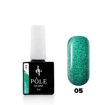 "Гель-лак POLE Brilliant rain №05  ""Emerald""  (8 мл)"